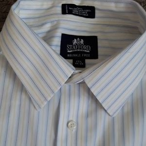 Stafford wrinkle free 17 1/2 34-35 button down